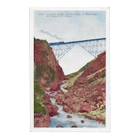 White Pass and Yukon Railroad, Alaska Cantilever Bridge Postcard