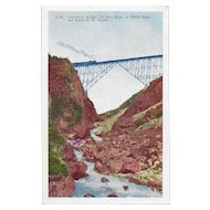 White Pass and Yukon Railroad, Alaska Cantilever Bridge Postcard