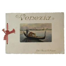 Venezia Color Prints Souvenir Book Venice Italy Ricordo di Venezia - Red Tag Sale Item