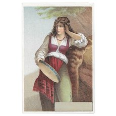Lady with Very Long Hair Victorian Trade Card Minneapolis Dry Goods Store