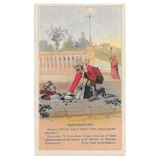 1880s Arbuckle's Coffee Resurrected Trade Card # 41 from Puck Series Victorian Era