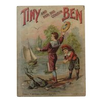 1893 Tiny and her Big Cousin Ben Victorian Childrens Book Nautical Boat Cover