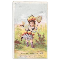 Godfrey Keebler & Co Beekeeper Victorian Ad Trade Card