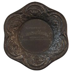 Montgomery Ward & Co Embossed Tin Pin Tray Scalloped Edge Advertising Chicago Kansas City Fort Worth - Red Tag Sale Item