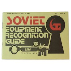 1975 Soviet Equipment Recognition Guide Cold War Era US Army Military Training SERG Book Booklet Manual