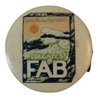 Colgate's Fab Sewing Tape Measure Celluloid Colgate Detergent Advertising
