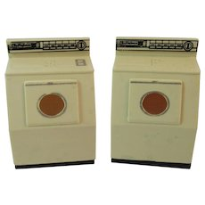 Westinghouse Washer and Dryer Salt and Pepper Shakers Vintage Kitchen