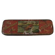 Fr. Holtz American Ace Harmonica Tin with Litho Airplane Graphics Germany German