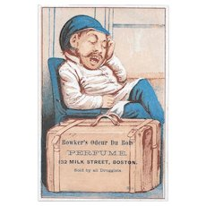 Bowker's Odeur Du Bois Perfume Victorian Trade Card Boston Druggist