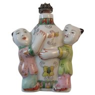 Chinese Figural Porcelain Snuff Bottle