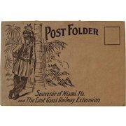 East Coast Railway Extension Postcard Souvenir Post Folder 22 Postcards Some Trains Railroad Bridges