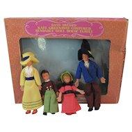 Shackman Kate Greenaway Doll House Family in Original Box Bendable Dollhouse