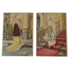 2 Victorian Shoes Trade Cards J.N. Cloyes Fine Shoes Untica NY