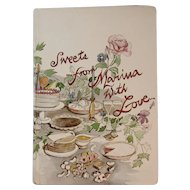 Sweets From Marina with Love Cookbook First Edition Author Signed Illustrated Gonzalez 1983