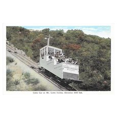 Pacific Electric Railway Cable Car on Mt. Lowe Incline Postcard California Kropp Co