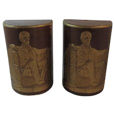 Lincoln Leather Bookends Book Ends
