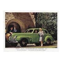 1940 Oldsmobile Series 60 Advertising Photo Card