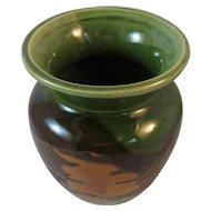 Royal Haeger Earth Wrap and Orange Peel Art Pottery Vase Mid Century Modern MCM Autumn Fall Colors