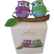 Hallmark Keepsake Owls Ornament Life's a Hoot With Sisters Handcrafted Christmas