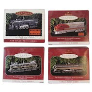 Hallmark Lionel Train Ornaments First 4 in Series 1996 - 1999 Die Cast Locomotives 700E Hudson 1950 Santa Fe F# Diesel Pennsylvania Railroad GG-1 746 Norfolk and Western Steam Christmas Keepsake Ornaments
