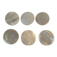 6 Large Mother of Pearl Buttons Vintage Sewing