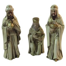 Vintage Nativity 3 Wise Men Three Kings Figurines Japan Christmas Papier Mache