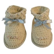 Hand Crocheted Baby Booties Shoes