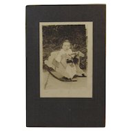 Baby On Rocking Horse Photo Photograph Cabinet Card