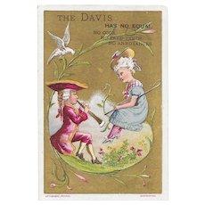 Davis Sewing Machine Vertical Feed Victorian Advertising Trade Card