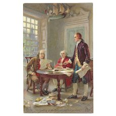 Dr. Jayne's Drafting of the Declaration of Independence Advertising Trade Card Family Medicine Products