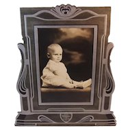 Incredible Art Deco Frame with Baby Photograph in It