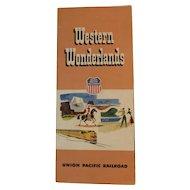 1953 Union Pacific Railroad Western Wonderlands Travel Brochure