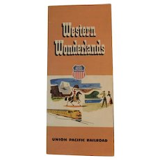1953 Union Pacific Railroad Western Wonderlands Travel Brochure