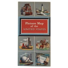 1950s Esso Picture Map of the United States General Drafting Co