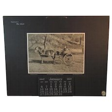 1907 Calendar Boy & Dog in Pony Cart Photo by Geidt and the Osborne Co of NY