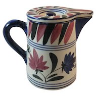 German Persian Ware Cream Pitcher Stick Spatterware Design Tableware