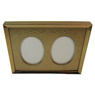 Vintage Double Frame Embossed Gold Tone
