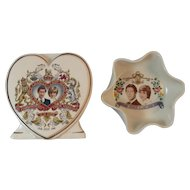 Diana & Charles Royal Wedding Planter and Trinket Dish Souvenirs Princess and Prince 1981