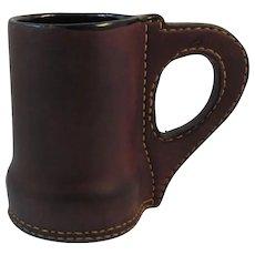 Vintage Leather Mug Tankard Beer Meade Ale Stein