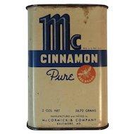 McCormick Bee Brand Cinnamon Spice Tin Vintage Kitchen