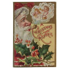 1909 Embossed Santa Postcard A Christmas Reverie Antique