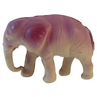 Occupied Japan Celluloid Elephant Purple Figurine Japanese