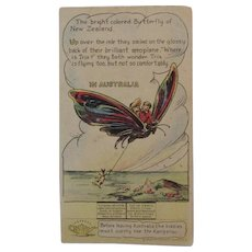 Pryor's Golden Crust Bread Trade Card Dotty, Bob and Trix Series with Butterfly in Australia