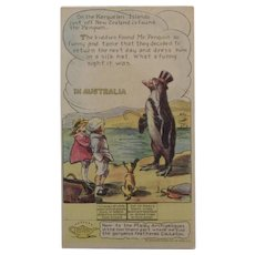 Pryor's Golden Crust Bread Trade Card Dotty, Bob and Trix Series with Penguin in Australia