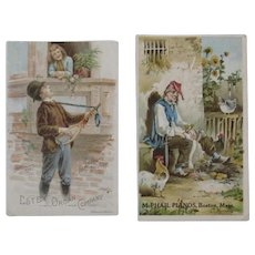 McPhail Pianos and Estey Organ Victorian Trade Cards