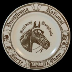 Pennsylvania National Horse Show Plate At the Farm Show by Kettlesprings Kilns