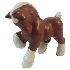 Prancing Horse or Pony Figurine Vintage Ceramic