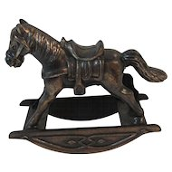 Miniature Rocking Horse Cast Metal Durham Industries