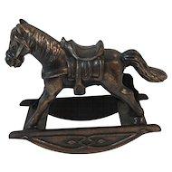 Miniature Rocking Horse Cast Metal Durham Industries