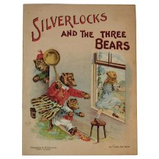 c1913 Silverlocks and the Three Bears Little Pets Series Chromolithograph Illustrations Edwardian Era Children's Book